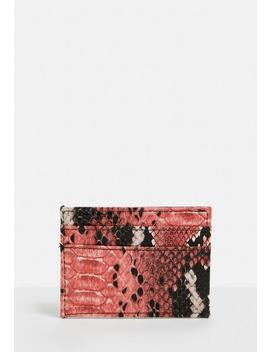Pink Snake Card Holder by Missguided