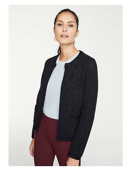 Shimmer Pocket Sweater Jacket by Ann Taylor
