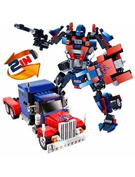 Building Blocks, Robot Stem Toy Set | 2 In 1 Fun Creative Robotics Toys Kit | Boys Ages 6 12 Years Old | 377 Pieces Of Construction Building Bricks | Best Gift For Kids 5,7, 8, 9,10 by Kididdo