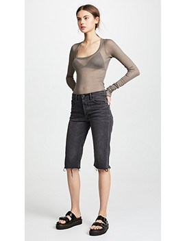 Scoop Neck Long Sleeve Tee by Rick Owens Lilies