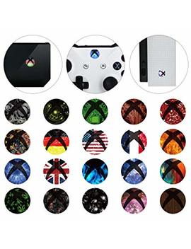 E Xtreme Rate 60 Pcs Custom Home Button Power Switch Stickers Skin Cover For Xbox One/One X/One S Console Kinect And Xbox One/One X/One S/Elite Controllers by E Xtreme Rate