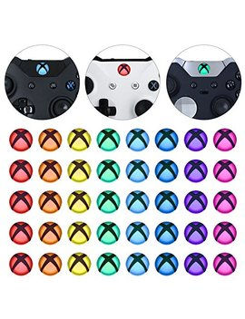 E Xtreme Rate Custom Home Guide Button Led Mod Stickers For Xbox One/S/Elite/X Controller With Tools Set   40pcs In 8 Colors by E Xtreme Rate