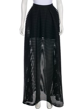 Perforated Maxi Skirt by Maje