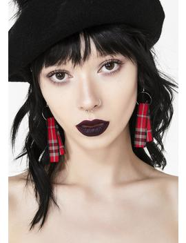 Fresh Meat Plaid Earrings by Ana Accessories