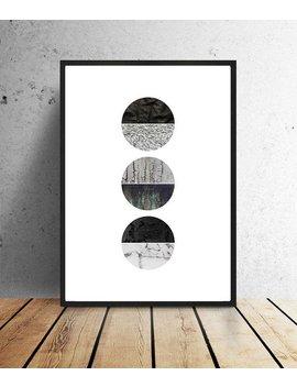 Poster, Circles, Abstract, Zwart/Wit, Paar/Blauw/Groen, Groen/Geel, Grafisch, Muurdecoratie, Print, Interieur, Illustratie, Structuren, by Etsy