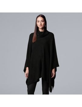 Women's Simply Vera Vera Wang Draped Turtleneck Poncho Sweater by Kohl's