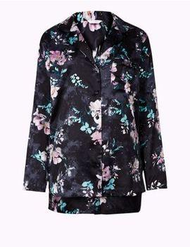 Satin Floral Print Short Pyjama Set by Marks & Spencer