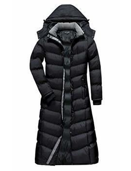 U2 Wear Women's Water Resistance Puffer Winter Full Length Coat With Hood by U2 Wear