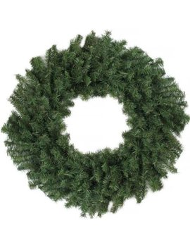 """24"""" Canadian Pine Artificial Christmas Wreath   Unlit by Darice"""