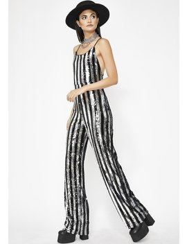 Chrome Swanky Attitude Sequin Jumpsuit by Rehab