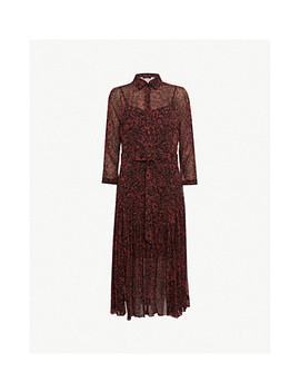 Eley Rose Print Chiffon Midi Dress by Allsaints