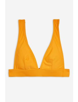 Longline Plain Triangle Bikini Top by Topshop