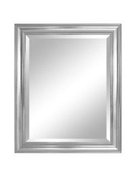 "Alpine Furniture Crackled Silver Wall Mirror 37""X32"" by Alpine Furnitre"