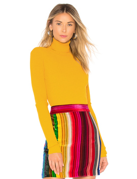 Rib Turtleneck Pullover by Milly