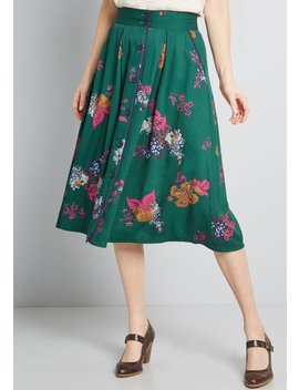 Intelligent Involvement Midi Skirt by Modcloth