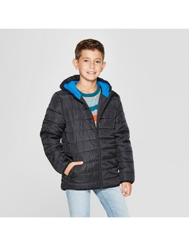Boys' Puffer Jacket   Cat & Jack™ Black by Cat & Jack