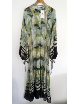 H&Amp;M Conscious Exclusive Lyocell Blend Long Pattern Maxi Kaftan Dress Uk 12 14 by Ebay Seller