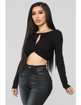 Sophisticated Shawty Top   Black by Fashion Nova