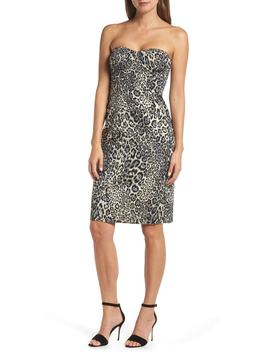 Strapless Metallic Leopard Spot Party Dress by J.Crew
