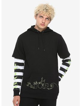 The Nightmare Before Christmas Twofer Striped Hoodie by Hot Topic