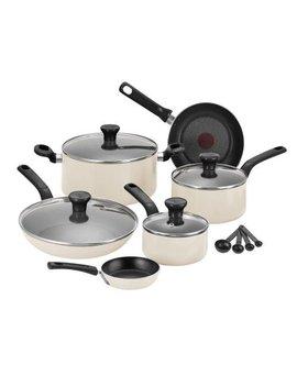 Tefal C719 S744 Cream 7 Pieces Excite Pots Pans Cookset by Tefal
