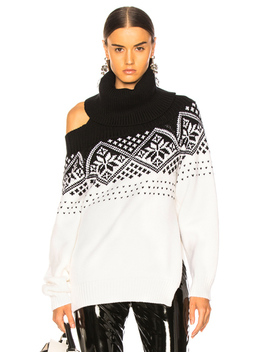 Snowflake Cold Shoulder Sweater by Monse