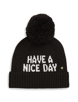 Have A Nice Day Beanie by Kate Spade New York