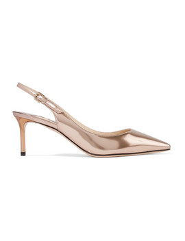 Erin 60 Metallic Leather Slingback Pumps by Jimmy Choo