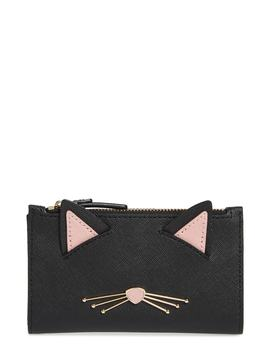 Cats Meow Mikey Leather Wallet by Kate Spade New York
