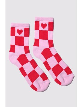 Lazy Oaf Check In Heart Socks by Lazy Oaf