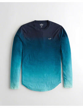 Ombré Crewneck T Shirt by Hollister