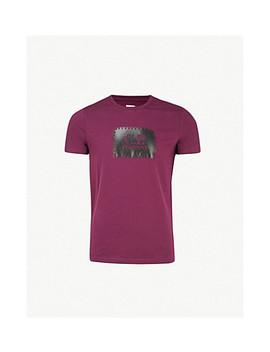 Stitch Logo Print Cotton Jersey T Shirt by Cp Company