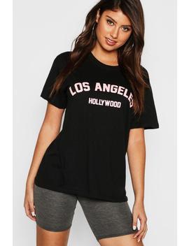 Los Angeles Slogan T Shirt by Boohoo