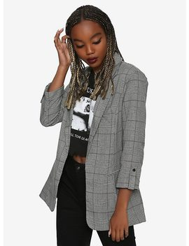 Cuffed Plaid Girls Blazer by Hot Topic