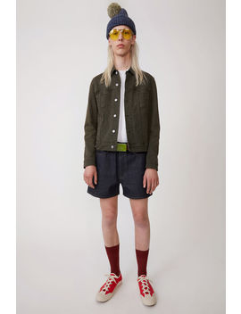 Denim Jacket Dark Green by Acne Studios