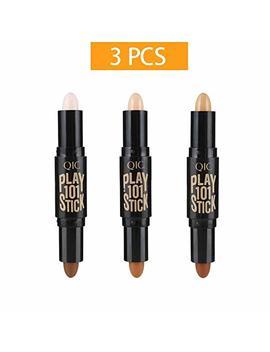 Makeup Double End Highlight Contour Sticks Cream Set Bronzer And Highlighter Stick Set/3 Pcs by Xiebinbin