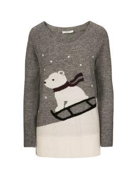 Polar Bear Plush V Neck Sweater by Ricki's