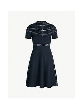 Crystal Embellished Knitted Dress by Sandro