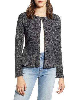 Jacquard Peplum Jacket by Halogen®