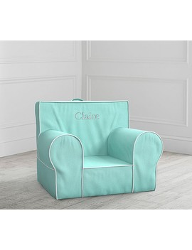 Aqua With White Piping Anywhere Chair® by Pottery Barn Kids