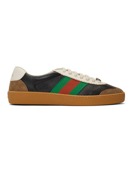 Navy & Taupe G74 Sneakers by Gucci