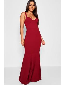 Bustier Detail Fishtail Maxi Dress by Boohoo