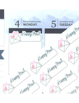 Happy Mail Stickers, Planner Stickers, Business Stickers, Hand Drawn Stickers, Mail Tracker Stickers For Erin Condren, Diary Etsy Stickers by Etsy