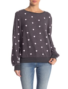 Essential Hearts Graphic Pullover by Wildfox