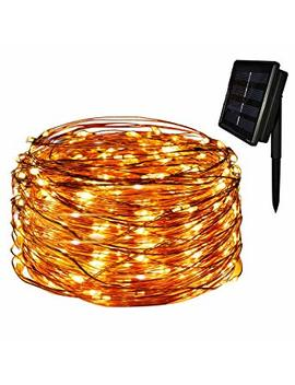 Yasolote Waterproof Copper Wire Fairy Lights, Solar Garden Lights, 72ft 22m 200 Led 8 Twinkling Modes, Decorative Outdoor Lighting, Starry String Lights For Home,Ebo, Patio, Lawn, Yard, Fence, Wedding, Party, Holiday, Festival Ornament (Warm Whit... by Yasolote