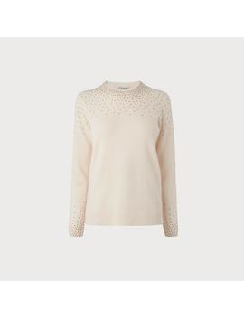 Naillie Cream Embellished Jumper by L.K.Bennett
