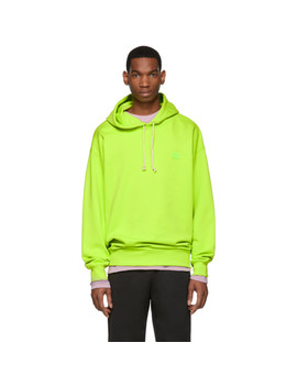 Green Oversized Farrin Face Hoodie by Acne Studios