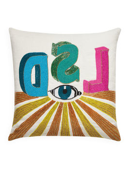Lsd Beaded Pillow by Jonathan Adler