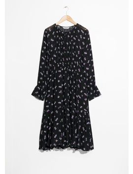 Printed Midi Tie Neck Dress by & Other Stories