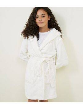Girls Cream Burnout Star Robe by New Look